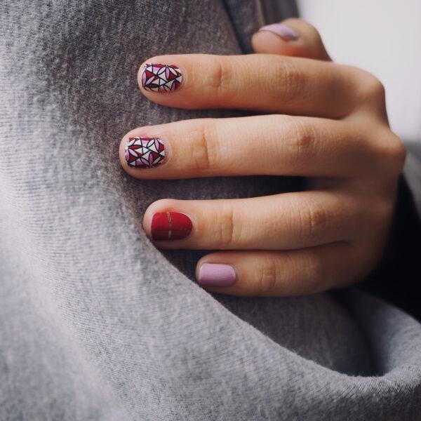 Crimson Petals Nail Wraps