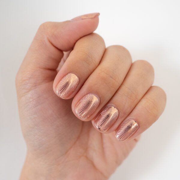 Rose Gold Sea Nettle Overlay Nail Wrap