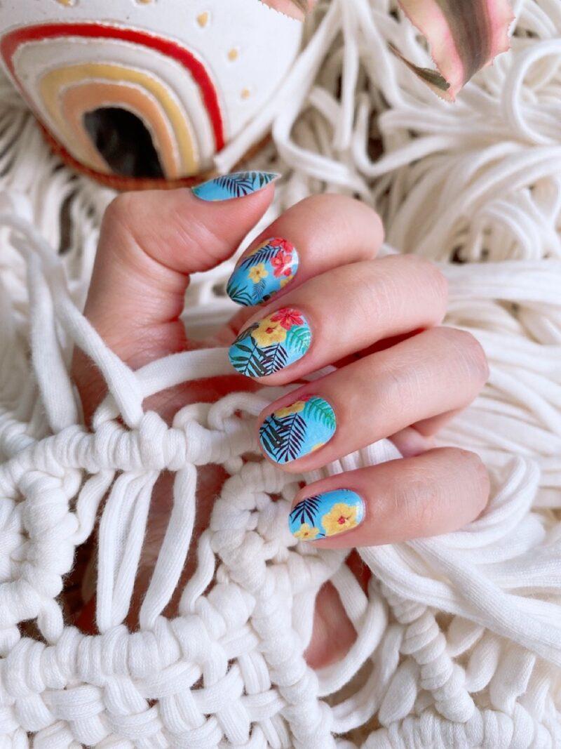 Blue Hawaiian Nail Wraps