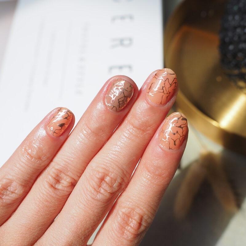 Rose Gold Veinlets Overlay Nail Wraps