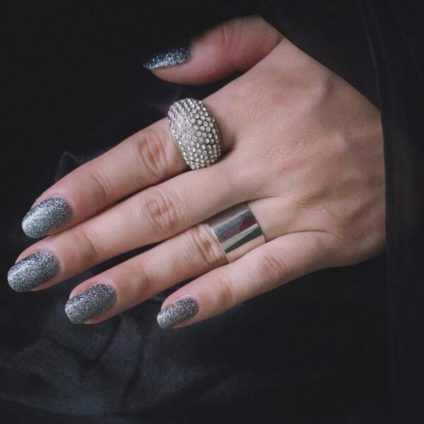 Gunmetal Glitter Nail Wraps